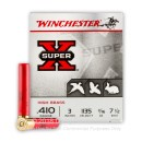 "Premium 410 Gauge Ammo For Sale - 3"" 11/16 oz. #7-1/2 Ammunition in Stock by Winchester Super-X High Brass - 25 Rounds"