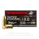 Premium 9mm Ammo For Sale - 90 Grain Zinc Core FMJ Ammunition in Stock by Winchester Super Clean - 50 Rounds