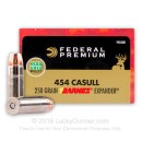 Premium 454 Casull - 250 gr Barnes Expander SCHP by Federal Premium in Stock - 20 Rounds