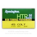 Cheap 45 LC Ammo For Sale - 230 gr JHP - Remington Defense Ammunition In Stock - 50 Rounds