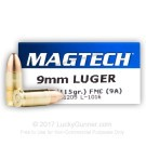9mm - 115 Grain FMJ - Magtech - 1000 Rounds