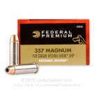 357 Mag - 158 Grain JHP Hydra-Shok - Federal - 500 Rounds