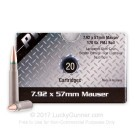 8mm Mauser - 170 Grain FMJ - PW Arms - 720 Rounds