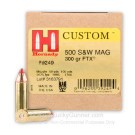 500 S&W Magnum - 300 Grain FTX JHP - Hornady LEVERevolution - 20 Rounds