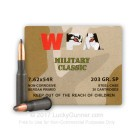 7.62x54r - 203 Grain SP - WPA Military Classic - 500 Rounds