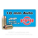 10mm Auto - 180 Grain JHP - Prvi Partizan - 500 Rounds