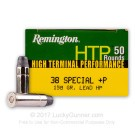 38 Special +P - 158 gr Lead HP - Remington HTP - 50 Rounds