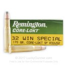 32 Winchester Special - 170 gr SP - Remington Core-Lokt - 20 Rounds
