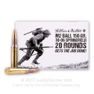 30-06 Sprg - 150 gr M2 Ball FMJ - M1 Garand - Sellier & Bellot - 20 Rounds