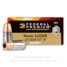 9mm - 124 Grain HST JHP - Federal Premium Law Enforcement - 50 Rounds