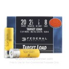 "20 ga - 2-3/4"" Lead Shot Target Load - 7/8 oz. -  #8 - Federal Top Gun - 25 Rounds"