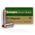 357 Mag - 125 Grain JHP - Remington Golden Saber - 25 Rounds