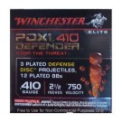 "410 Bore - 2-1/2"" 3 Disc/12 BB Combo Shot - Winchester Defender - 100 Rounds"