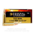 223 Rem - 55 Grain Nosler Ballistic Tip - Federal Tactical TRU - 500 Rounds