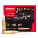 7.62x39 - 124 Grain FMJ - Norma - 20 Rounds