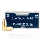 45 ACP - 230 Grain TMJ - Speer LAWMAN - 1000 Rounds