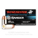 45 Auto - 230 gr JHP - Winchester Ranger LE Bonded - 50 Rounds