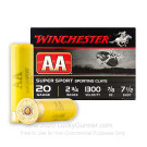 """20 Gauge - 2-3/4"""" AA Sporting Clays #7-1/2 Shot - Winchester - 25 Rounds"""