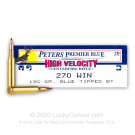 270 - 130 Grain Blue Tipped BT - Remington Peters Premier Blue - 20 Rounds