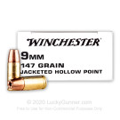 9mm - 147 Grain JHP - Winchester - 500 Rounds