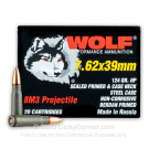 7.62x39 - 124 Grain HP 8M3 - Wolf Performance - 1000 Rounds