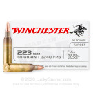 223 Rem - 55 Grain FMJ - Winchester USA - 1000 Rounds
