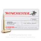 223 Rem - 55 gr FMJ - Winchester USA - 20 Rounds