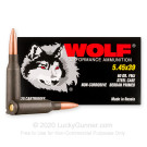5.45x39 - 60 Grain FMJ - Wolf PolyFormance - 20 Rounds