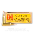 6.8 SPC - 100 Grain GMX - Hornady Custom - 20 Rounds