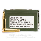 6.8 SPC - Blank - Federal - 800 Rounds in Ammo Can **BLANK ROUND**