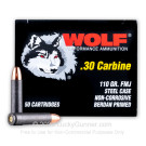 30 Carbine - 110 gr FMJ - Wolf PF - 1000 Rounds