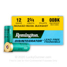 "12 Gauge - 2-3/4"" 8 Pellet 00 Buckshot - Remington Disintegrator Frangible Reduced Recoil - 25 Rounds"