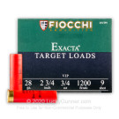 "28 Gauge - 2-3/4"" #9 Target - Fiocchi - 25 Rounds"