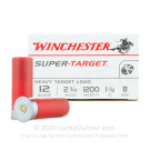"12 Gauge - 2-3/4"" 1-1/8 oz. #8 Shot - Winchester Super Target - 250 Rounds"