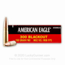 300 AAC Blackout - 150 Grain FMJ - Federal American Eagle - 20 Rounds
