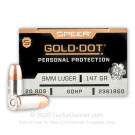 9mm - 147 Grain JHP - Speer Gold Dot - 200 Rounds