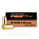 40 S&W - 180 Grain FMJ-FP - PMC - 1000 Rounds