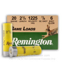 "20 ga - 2-3/4"" Lead Shot - 7/8 oz. - #6 -  Remington Game Load - 25 Rounds"
