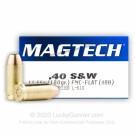 40 S&W - 180 Grain FMJ Flat - Magtech - 50 Rounds