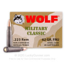 223 Rem - 62 Grain FMJ - Wolf WPA MC - 500 Rounds