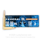 30-06 - 150 Grain SP - Federal Power-Shok - 20 Rounds