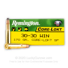 30-30 - 170 gr SP - Remington Core-Lokt - 200 Rounds