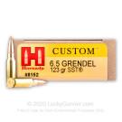 6.5 Grendel - 123 Grain SST - Hornady Custom - 20 Rounds