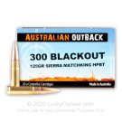 300 AAC Blackout - 125 Grain HP Sierra MatchKing - Australian Outback - 20 Rounds