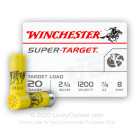 "20 ga - 2-3/4"" - 7/8oz - #8 - Super Target Winchester - 250 Rounds"