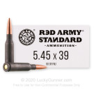 5.45x39 - 60 Grain FMJ - Red Army Standard - 20 Rounds