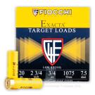 "20 Gauge - 2-3/4"" 3/4 oz #7.5 Low Recoil Target Load - Fiocchi - 25 Rounds"