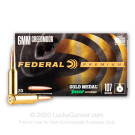 6mm Creedmoor - 107 Grain MatchKing HPBT - Federal Gold Medal - 20 Rounds
