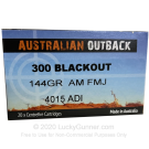 300 AAC Blackout - 144 Grain FMJ - Australian Outback - 20 Rounds