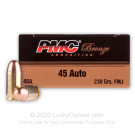 45 ACP - 230 Grain FMJ - PMC - 1000 Rounds